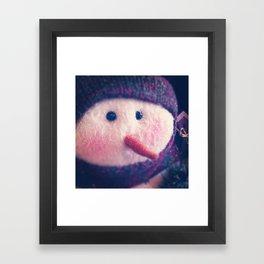 Frosty Framed Art Print