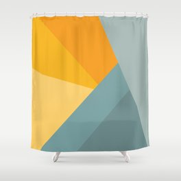 Abstract Mountain Sunrise Shower Curtain