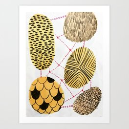 Honey Orbs Art Print