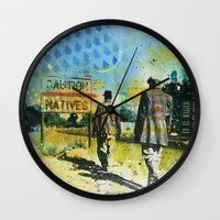 native Wall Clocks featuring Native by MATEO
