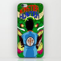 monster hunter iPhone & iPod Skins featuring Monster Hunter by Rasheed Daoud Hines