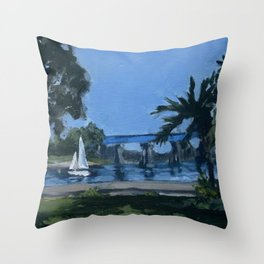 Hide Away Park Throw Pillow