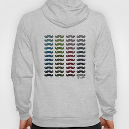 Houndstooth Mustaches  Hoody