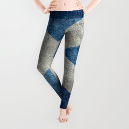 Flag of Scotland in grungy textures Leggings