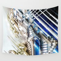 sci fi Wall Tapestries featuring Sci-Fi Series 1 by eos vector