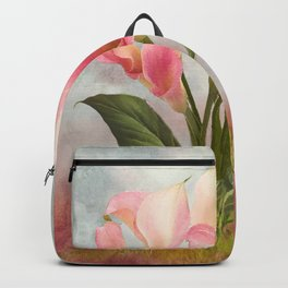 Pink Calla Lily Garden Backpack