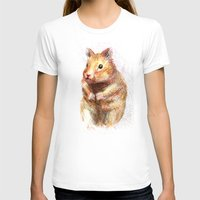hamster T-shirts featuring hamster by dace k