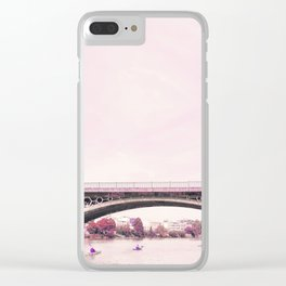 Pink mood at Triana Bridge Clear iPhone Case