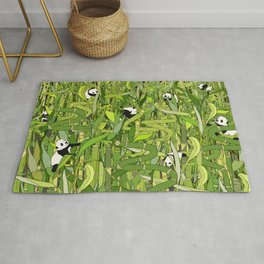 Pandas Bamboo Forest Rug