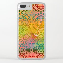 DP050-6 Colorful Moroccan pattern Clear iPhone Case