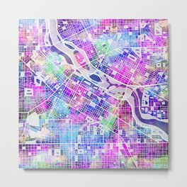 minneapolis city map Metal Print