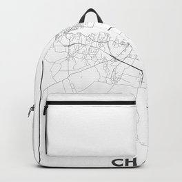 Minimal City Maps - Map Of Chania, Greece. Backpack