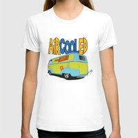 vw bus T-shirts featuring VW Camper Drag Bus by VelocityGallery