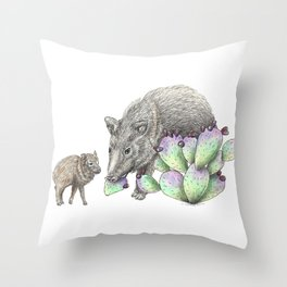 Javelina Family Throw Pillow