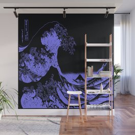 The Great Wave Periwinkle Lavender Wall Mural