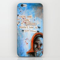 robin williams iPhone & iPod Skins featuring Robin Williams Poster/Quote by ☼LinziexDiane