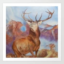 Famous STAG oil study Art Print