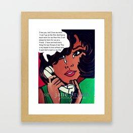 Popping Art Hello Framed Art Print