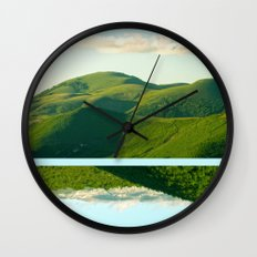 Mountains and Sky Wall Clock
