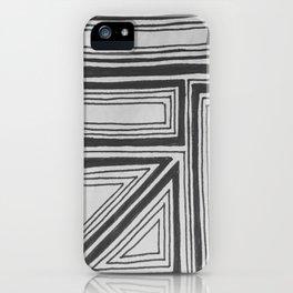 Geometric squares iPhone Case