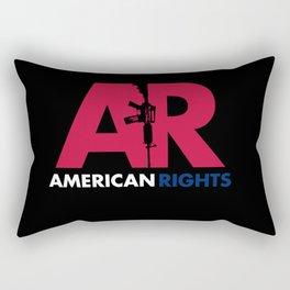 American Rights Assault Rifle Second Amendment AR-15 NRA Rectangular Pillow