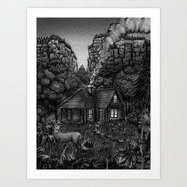 The Shire, USA (B&W Version) Art Print