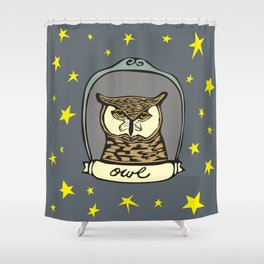 Evening Owl Shower Curtain