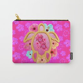Hawaiian Pink Turtle Carry-All Pouch