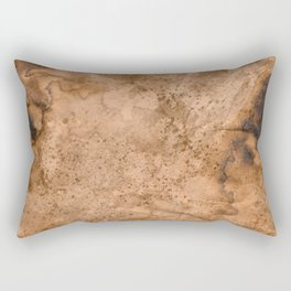 Acrylic Coffee Stained Paper Rectangular Pillow