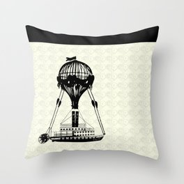 Airship Love Craft Throw Pillow
