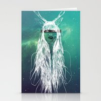indie Stationery Cards featuring Indie Girl by PsychGirl