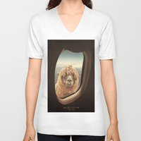 summer V-neck T-shirts featuring QUÈ PASA? by Monika Strigel
