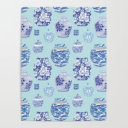 Chinoiserie Ginger Jar Collection No.3 Poster
