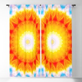 Sun Pattern Abstract Art Seamless Geometry Color Blackout Curtain