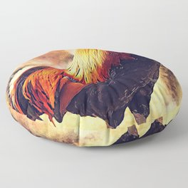 Rooster art #rooster #animals Floor Pillow