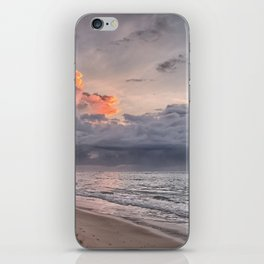 Cloudy Day on the Beach iPhone Skin