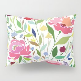 Rock in Flowers Pillow Sham