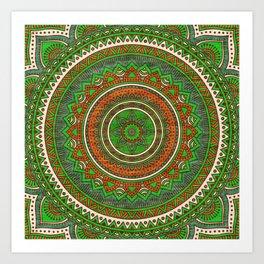 Hippie mandala 80 Art Print