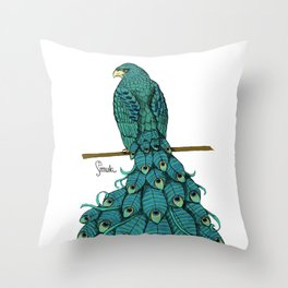 Special Chimera: The Peahawk Throw Pillow