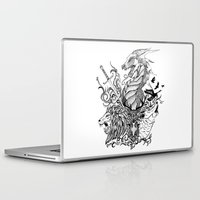 thrones Laptop & iPad Skins featuring Game of Thrones by Ink Tales