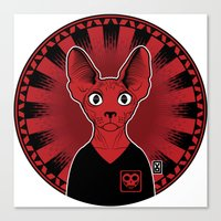 sphynx Canvas Prints featuring Sphynx! by Visually Odd