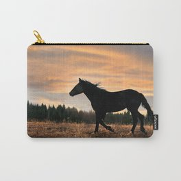 Wild Horse at Sunset Carry-All Pouch