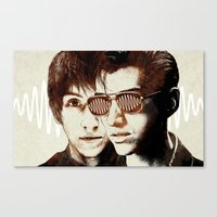 arctic monkeys Canvas Prints featuring AM II by Your Music Design
