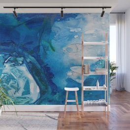 Deep Blue Ocean Life Wall Mural