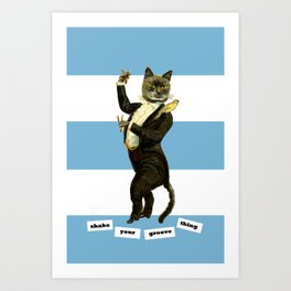 shake your groove thing Art Print