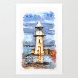 Brixham Lighthouse Devon Art Print