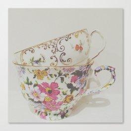 Simple Things, teacups Canvas Print