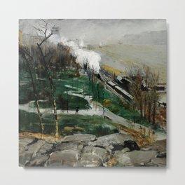 "George Wesley Bellows ""Rain on the River"" Metal Print"