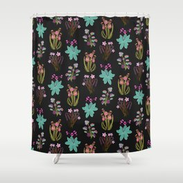 carnivorous plants black Shower Curtain