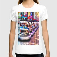 cars T-shirts featuring Bumper cars by Simon Ede Photography